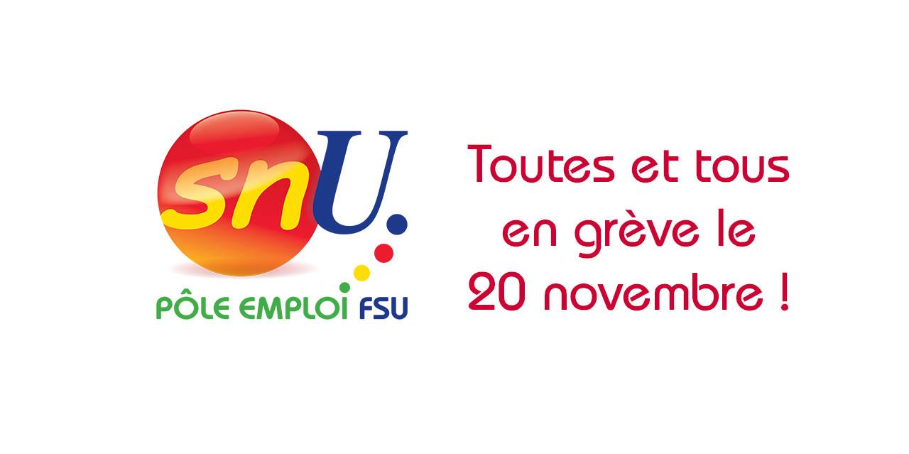 Tous en grève le 20 novembre, 11h30 métro «Assemblée nationale»